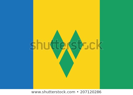 Saint Vincent and the Grenadines flag Stock photo © butenkow