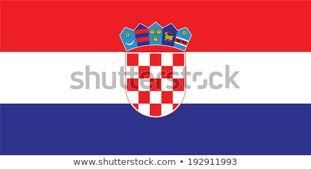 Croácia bandeira branco tecido vermelho vento Foto stock © butenkow