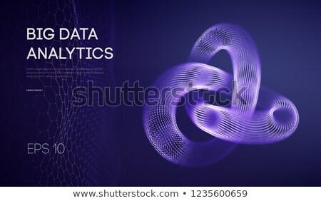 Stock photo: Digital vector augmented analytics