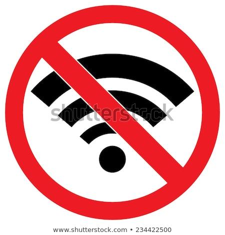 radio waves interference vector icon Stock photo © blaskorizov