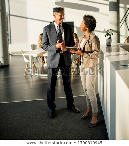 couple of multiethnic business people stock photo © minervastock