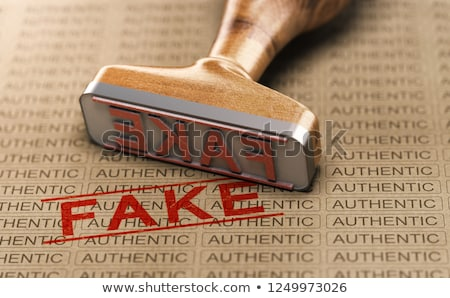authentic vs fake poduct counterfeit concept stock photo © olivier_le_moal
