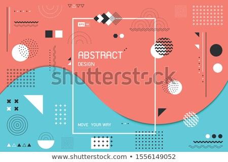 Gradiente fluido vector anunciante anual informe Foto stock © pikepicture