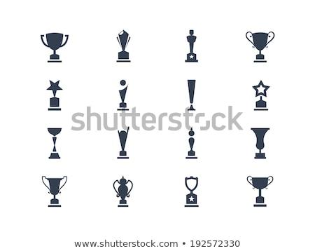 Trofeeën Rood lege vorm Stockfoto © robuart