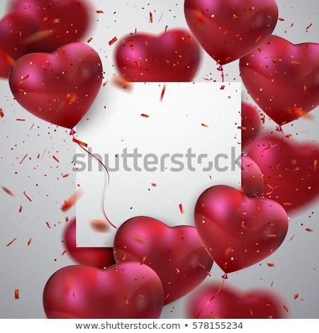 ストックフォト: 赤 · バレンタインデー · 中心 · グリッター · 粒子 · 抽象的な