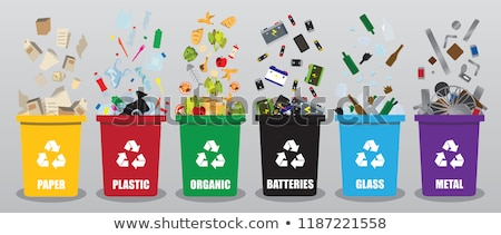 Plastic Garbage and Dustbin Vector Illustration Stock photo © robuart