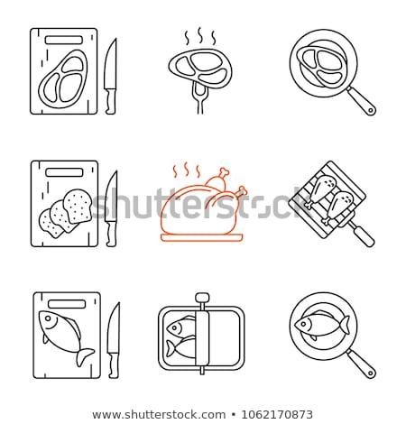 バーベキュー ビーフステーキ 鶏 翼 ホットドッグ ストックフォト © robuart