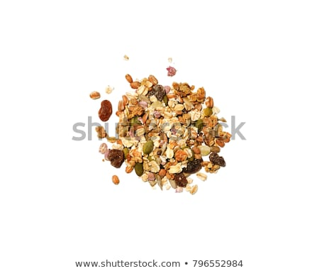 Granola aislado blanco superior vista Foto stock © xamtiw