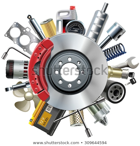 Vector Car Spares Concept with Speedometer Stock photo © dashadima