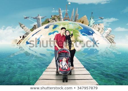 muslim families around the world stock photo © colematt