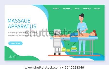 Aparato masaje atrás mujer vector toalla Foto stock © robuart