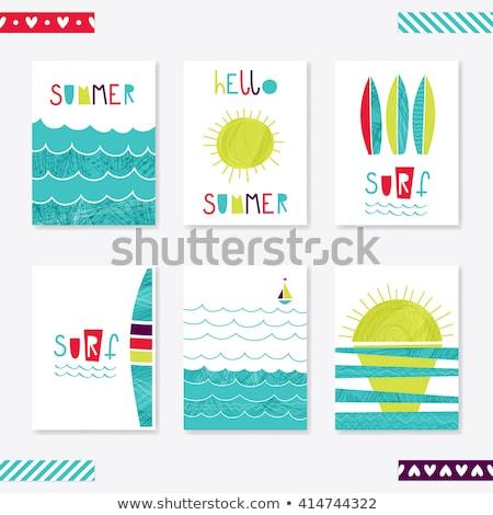 pálmalevelek · víz · napos · nyár · terv · fa - stock fotó © robuart