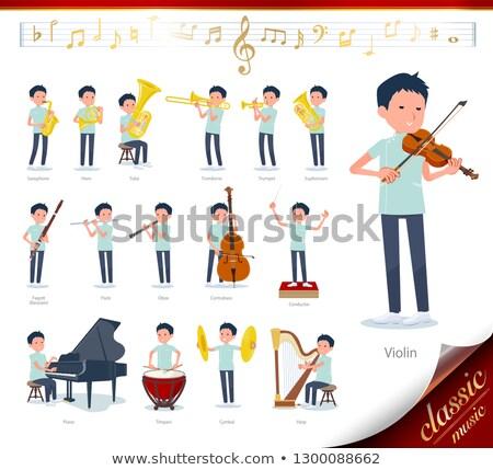 カイロプラクター 音楽 セット 男 クラシック音楽 再生 ストックフォト © toyotoyo