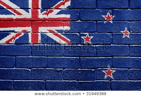 Nueva Zelandia bandera pintado pared diseno arte Foto stock © colematt
