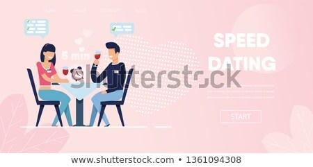 online · dating · illustratie · computermuis · Rood · hart - stockfoto © rastudio