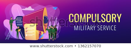 Compulsory military service concept vector illustration. Stock photo © RAStudio