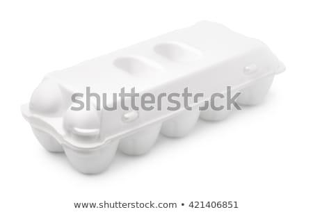 Ten egg in carton Stock photo © colematt