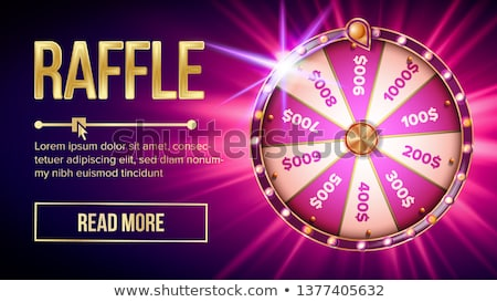 Internet Raffle Roulette Fortune Banner Vector Stockfoto © pikepicture