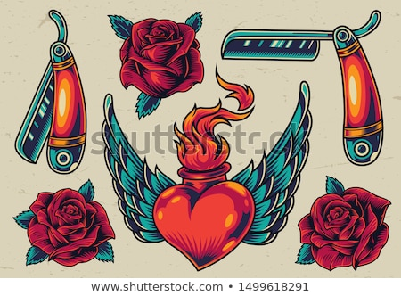 fire rose with wings stock photo © blackmoon979