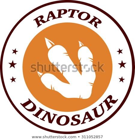 Dinosaurus voetafdruk cirkel logo-ontwerp tekst Stockfoto © hittoon