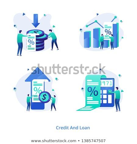Kredi iniş sayfa küçücük insanlar yetenek Stok fotoğraf © RAStudio