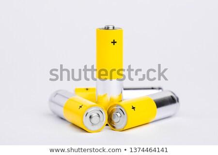 Klein batterijen vier metaal tabel Stockfoto © pedrosala
