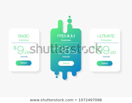 Blank Table template, Comparison of services. Web pricing table template for business plan. Vector i Stock photo © kyryloff