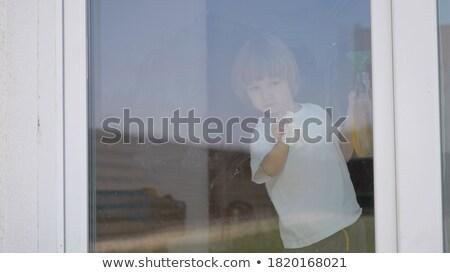 blond hair boy_housekeeping Stock photo © toyotoyo