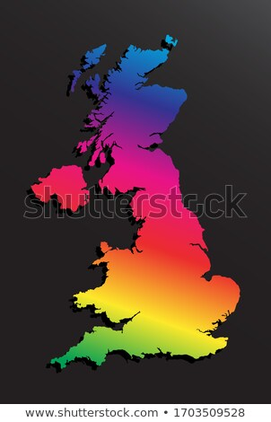 rainbow flag and flag of the United Kingdom Stock photo © nito