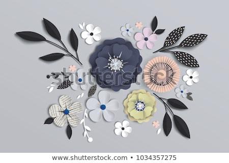 Paper Cut Vector Design Bud, Flower Composition Stock photo © robuart