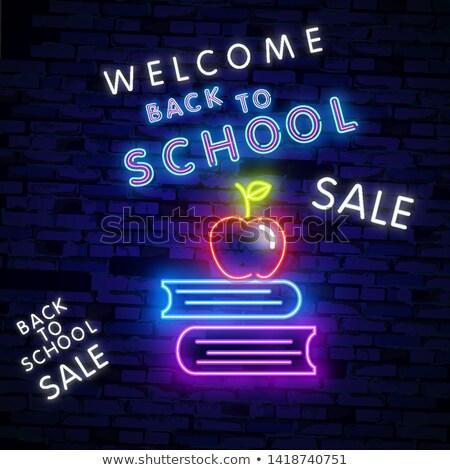 Zurück · in · die · Schule · Bildung · Symbole · Vektor · Papier · Kinder - stock foto © anna_leni