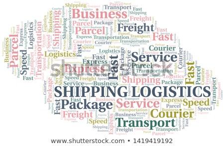 Kolor logistyka kolaż ilustracja inny technologii Zdjęcia stock © netkov1