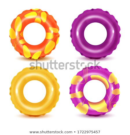 Lifebuoy or Lifesaver Round Inflatable Rings Water Stock photo © robuart