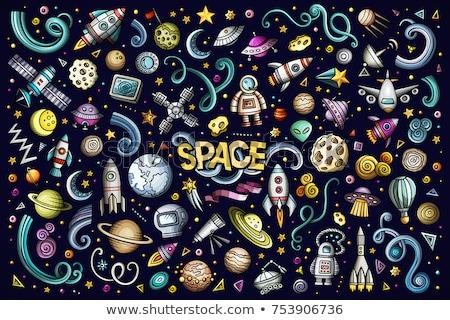 Ayarlamak uzay elemanları astronot toprak ay Stok fotoğraf © netkov1