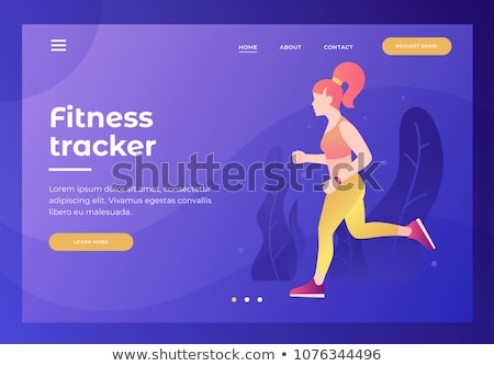 Outdoor workout concept landing page. Stock photo © RAStudio