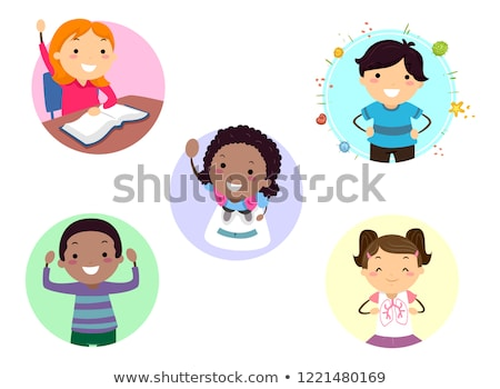 Stickman Kids Exercise Benefits Illustration Stock photo © lenm