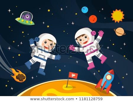 астронавт · космическое · пространство · галактики · звезды · Элементы · изображение - Сток-фото © adrenalina