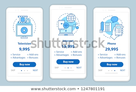 packaging elements vector onboarding stock photo © pikepicture