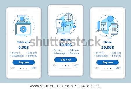 Envases elementos vector móviles aplicación página Foto stock © pikepicture