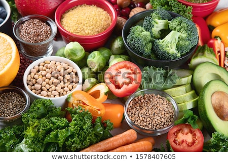 健康食品 · 高い · タンパク質 · 肉 · 魚 · 乳製品 - ストックフォト © furmanphoto