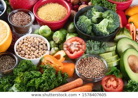 alimentação · saudável · alto · proteína · carne · peixe - foto stock © furmanphoto