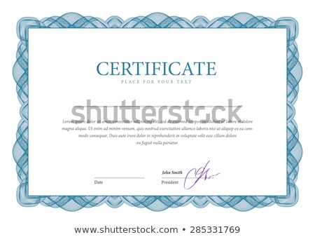 Blank Certificate Background Stock photo © jamdesign