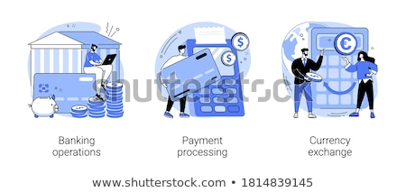 Banking service, deposit metaphor flat vector illustration Stock photo © Decorwithme