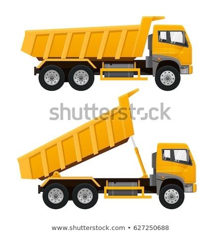 Realistic dump truck vector illustration Stock photo © YuriSchmidt