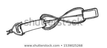 Surf Belt For Carry Surfboard Monochrome Vector Stock photo © pikepicture