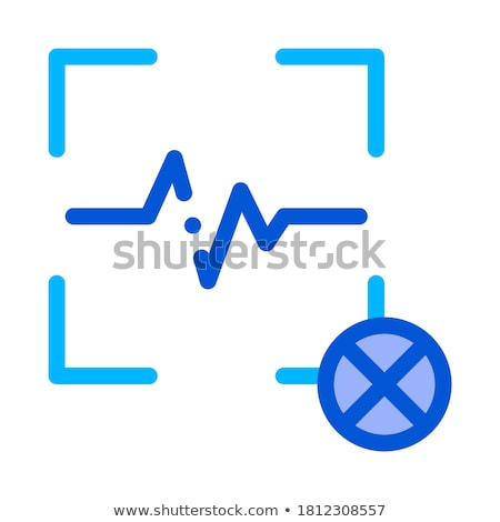 Cancel Action Voice Control Icon Vector Illustration Stock photo © pikepicture