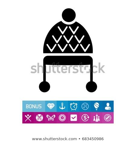 gladiador · casco · blanco · negro · ilustración · arte - foto stock © pikepicture
