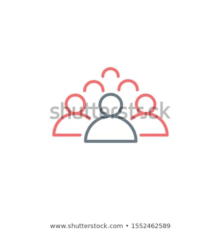 Group of people line icon, leader outline linear pictogram. Editable stroke. Stock Vector illustrati Stock photo © kyryloff