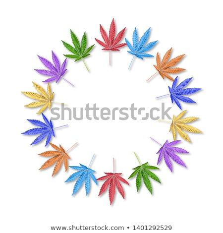 Cannabis rainbow leaf Stock photo © blackmoon979
