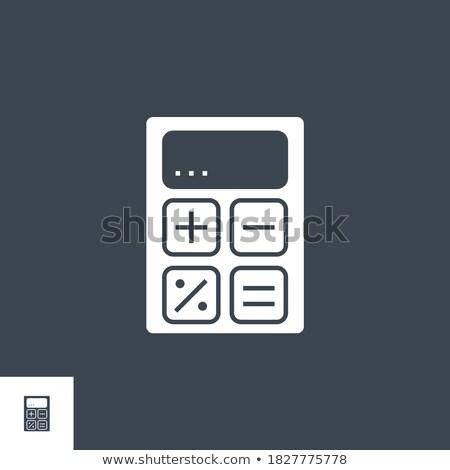 financial calculate related vector glyph icon stock photo © smoki